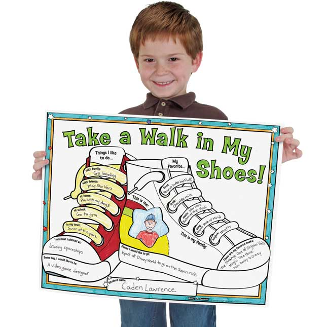 Ready-To-Decorate® Take A Walk In My Shoes! Posters