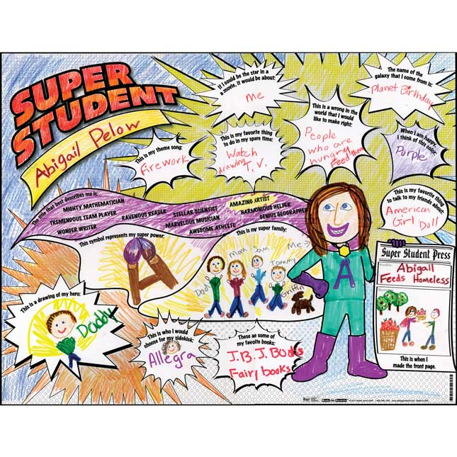 Ready-To-Decorate® Super Student About Me Posters