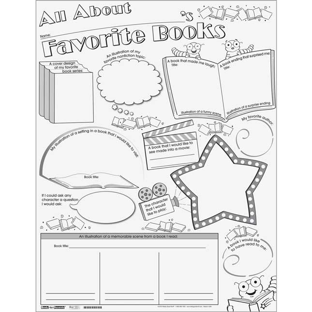 Ready-To-Decorate® All About My Favorite Books Posters