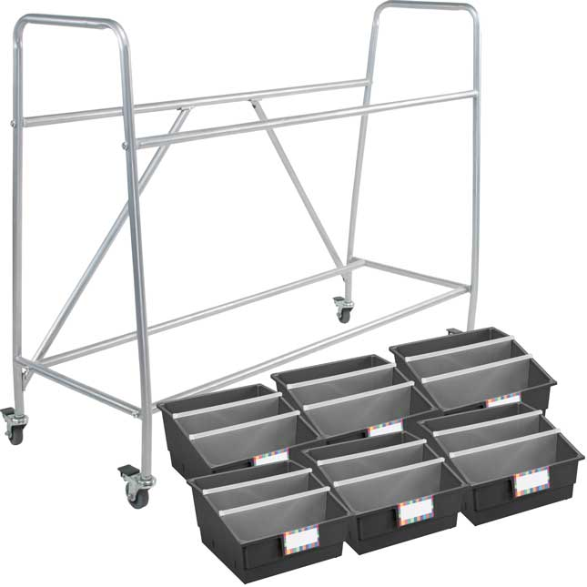Really Good Classroom Library Rack With Picture Book Bins™ With Dividers