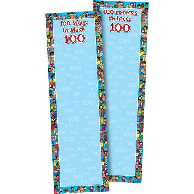 100 Ways To Make 100 Anchor Chart - Bilingual