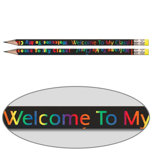 Welcome To My Class Pencils - Sharpened