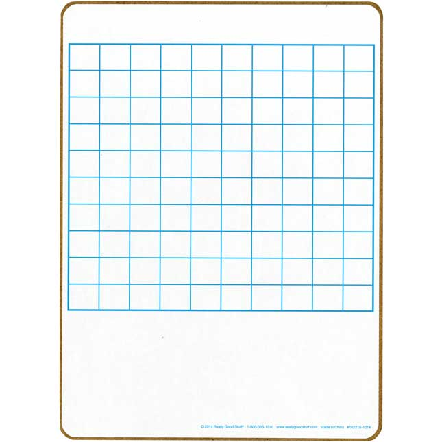 100 Grid Two-Sided Dry Erase Boards