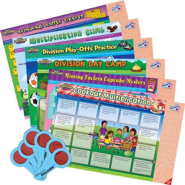 Skill Stretchers With Decoders™ Kit: Grade 3 Math - Set 2