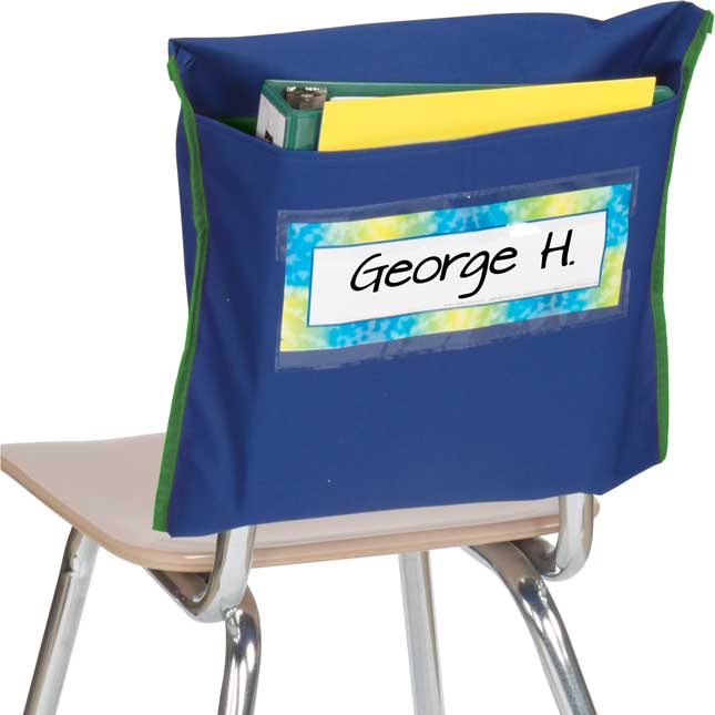 Store More® Deep-Pocket Chair Pockets, Navy