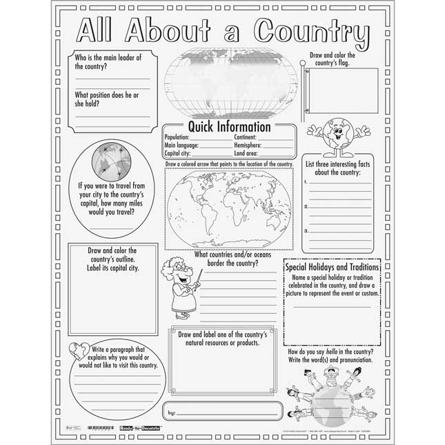 Ready-To-Decorate® All About A Country Posters