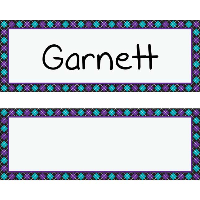 Student Book Collection Chair Pockets™ Name Tag Refill