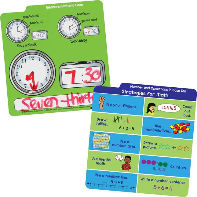 Desktop Buddies™ With Sleeves - Math Grades K-1
