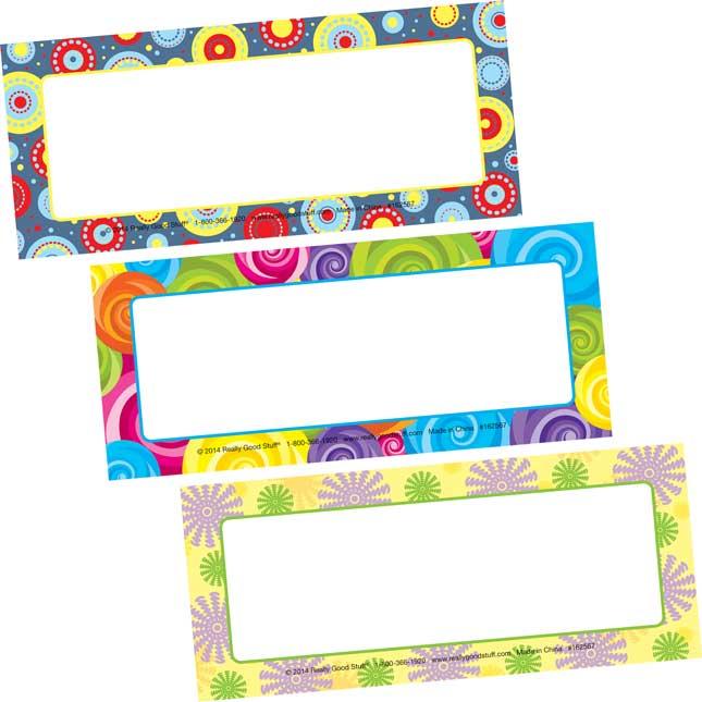 Decorative Classroom Label Magnets - Patterns