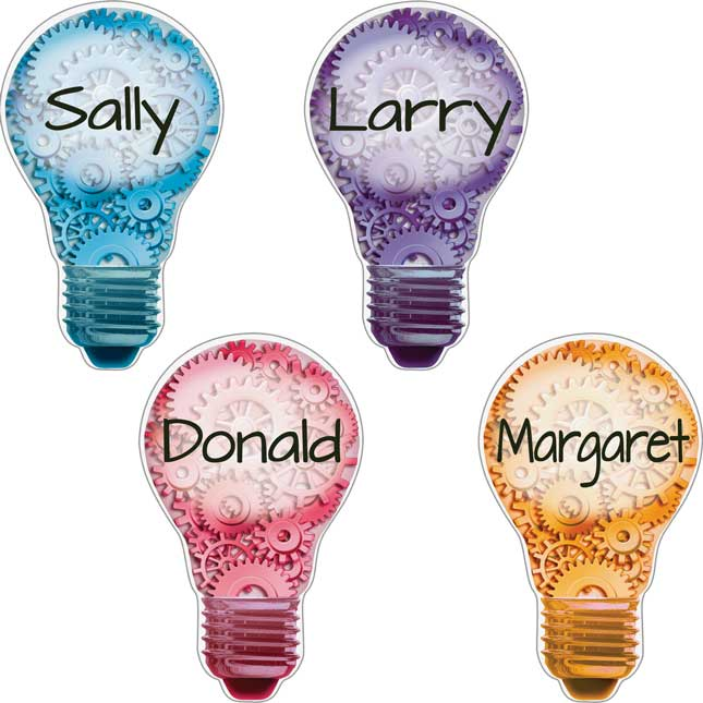 Student Name Lightbulb Magnets