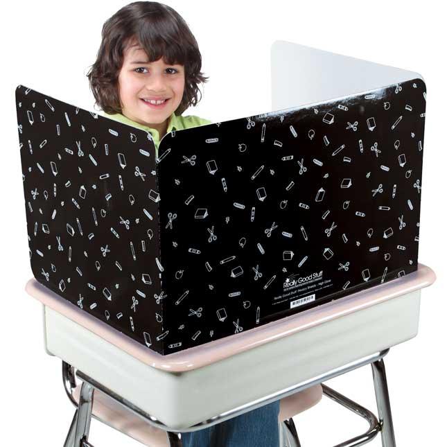 Really Good Stuff® Black Privacy Shields  - High Gloss - Set Of 12