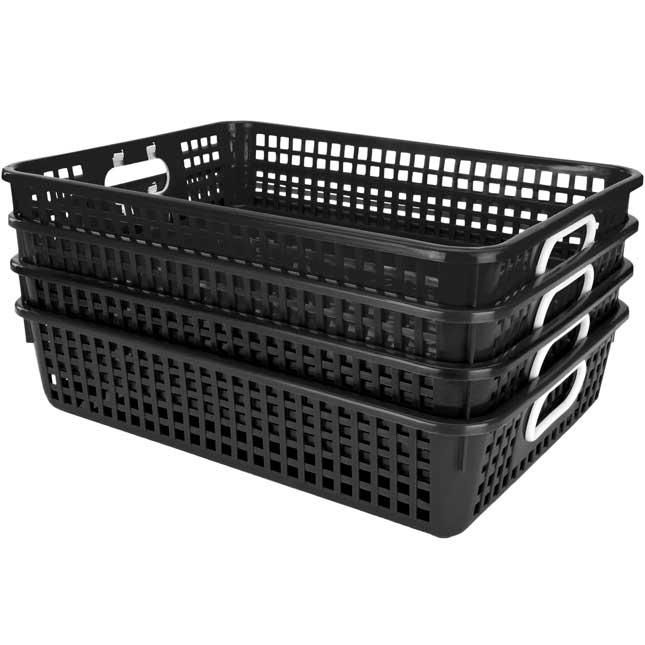 Classroom Paper Baskets - Black