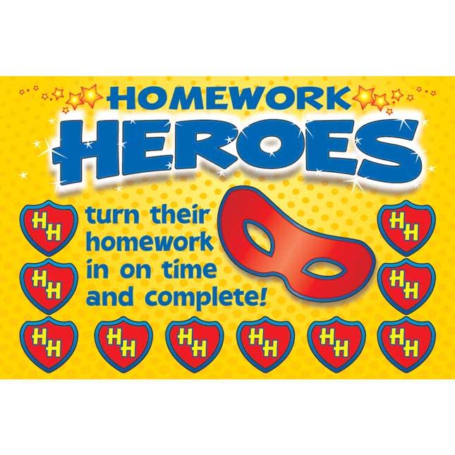 Homework Hero Earn-And-Return Punch Cards