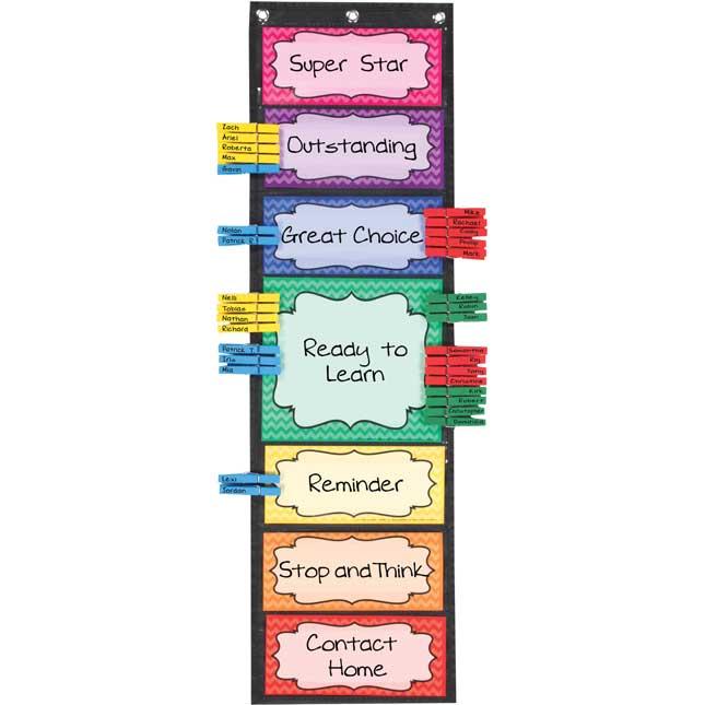 Classroom Behavior EZ-Tuck Clip 'N' Track Pocket Chart®
