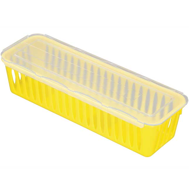 Pencil And Marker Baskets With Lids - 4-Pack, Neon