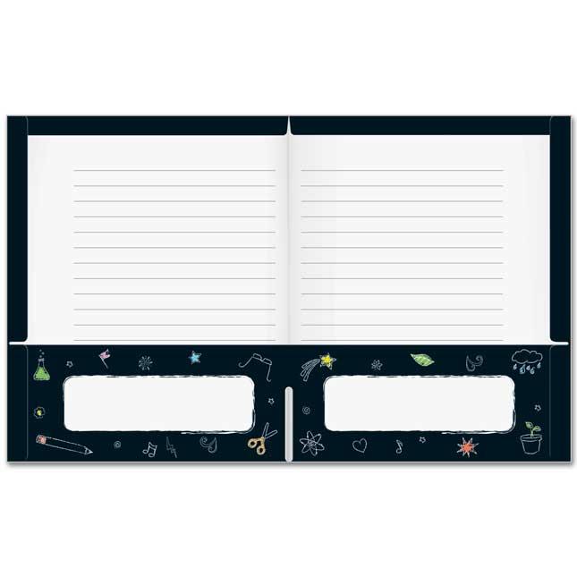 Chalkboard Motif Homework Folders
