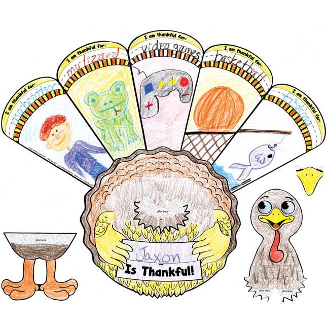 Ready-To-Decorate® I Am Thankful 3-D Turkeys