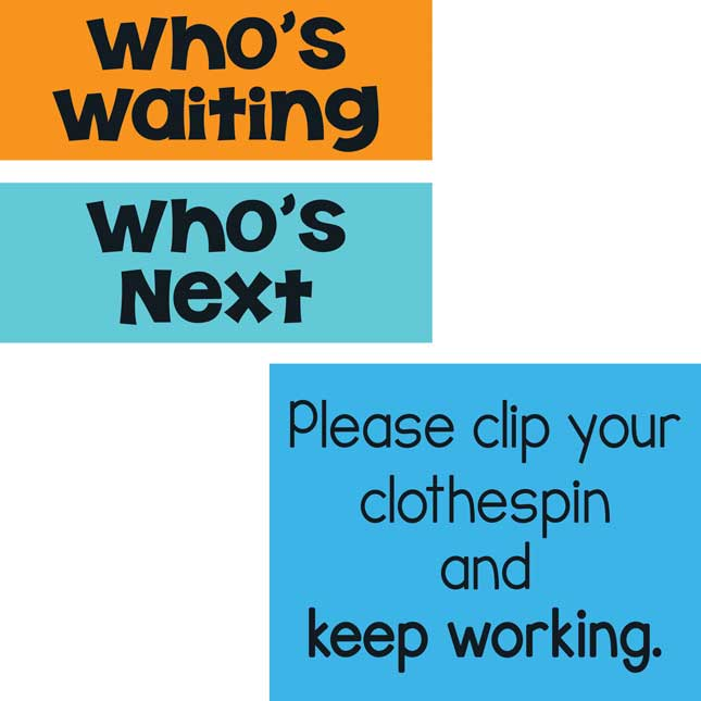 Who's Waiting Classroom Clip 'N' Track Pocket Chart™