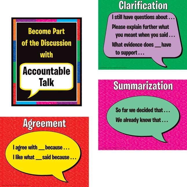 Accountable Talk Posters Set