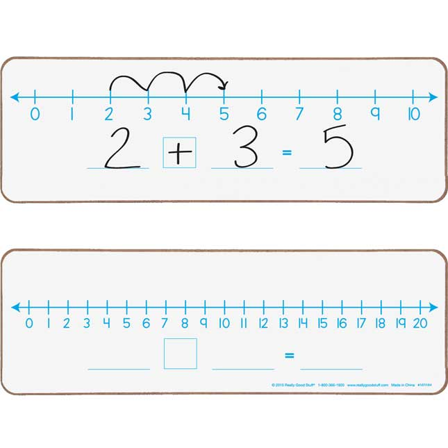 Number Line 0-10 And 0-20 Dry Erase Boards