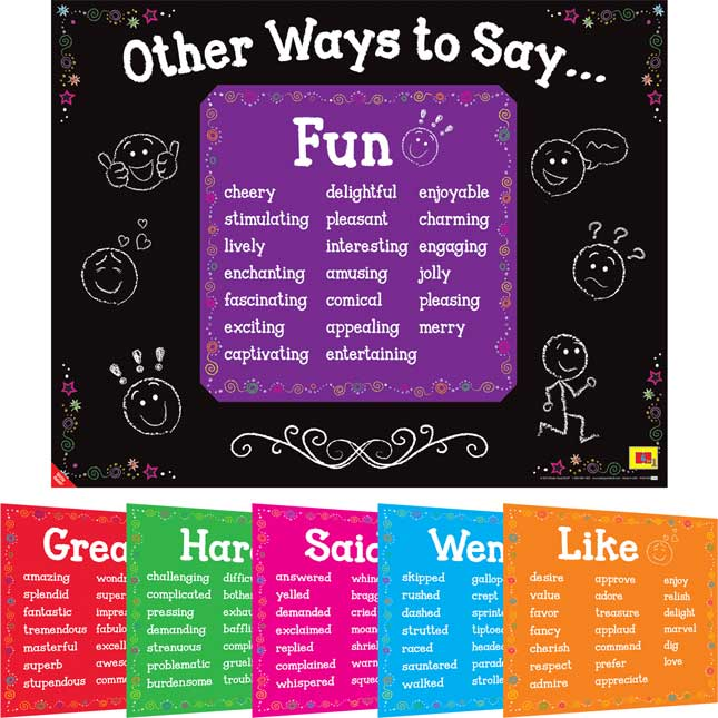 Other Ways To Say . . . 6-In-1 Posters Set