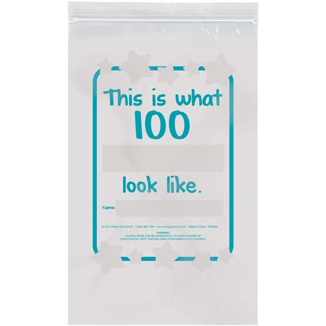 What Does 100 Look Like? Banner And Plastic Bags Kit