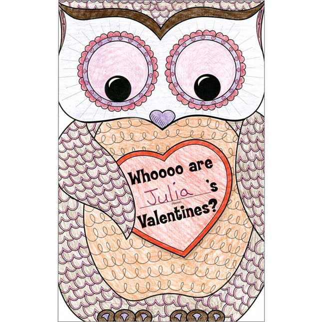 Ready-To-Decorate® Valentine Owl Collection Envelopes