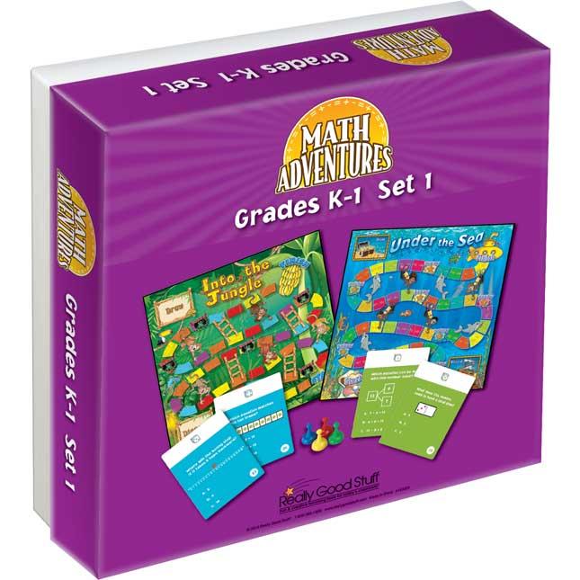 Grades K-1 Math Adventures Games - Set 1