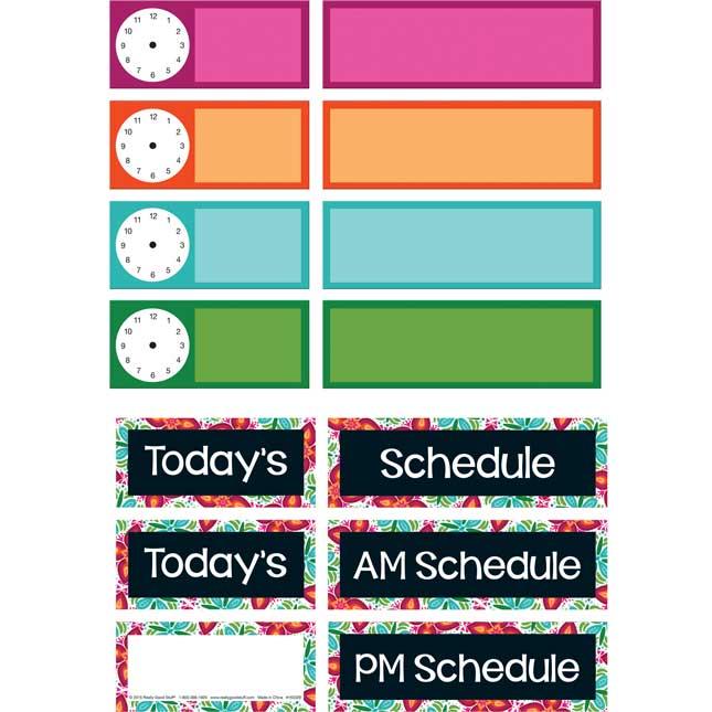 Classroom Scheduling Pocket Chart™ Refill Kit
