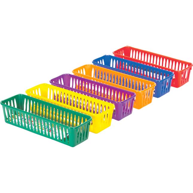 Group Colors For 6 - Pencil And Marker Baskets With Lids