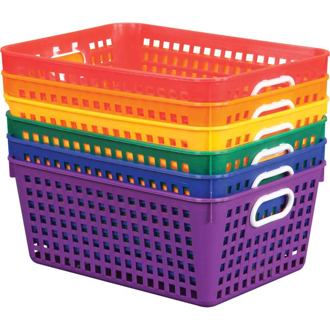 Group Colors For 6 - Book Baskets, Large