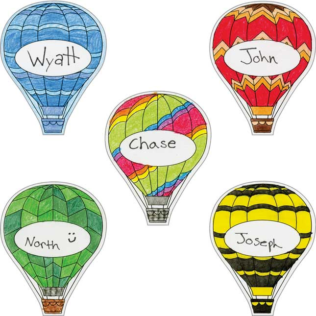 Ready-To-Decorate® Student Name Balloon Magnets