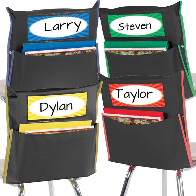 Store More® Black Grouping Chair Pockets - Name Tag Refill