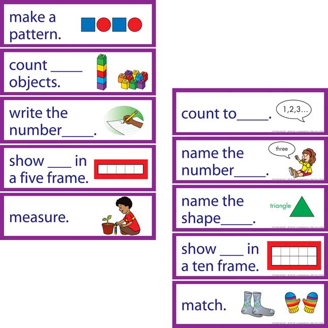 Early Learning Objectives Pocket Chart™