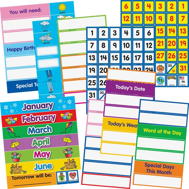 Look What's Happening Today Pocket Chart™ - Refill Kit