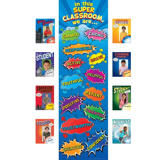 In This SUPER Classroom Bulletin Board Kit