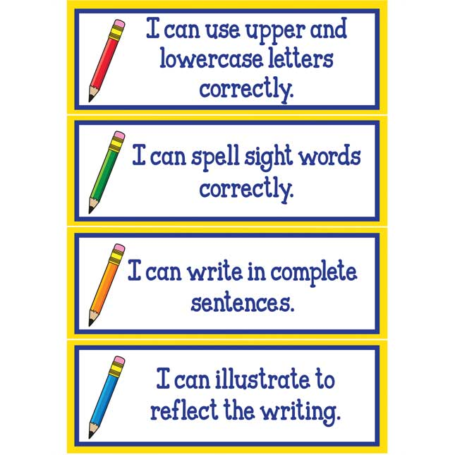 Writing Goals Clip 'N' Track Pocket Chart™ - Primary Card - Refill