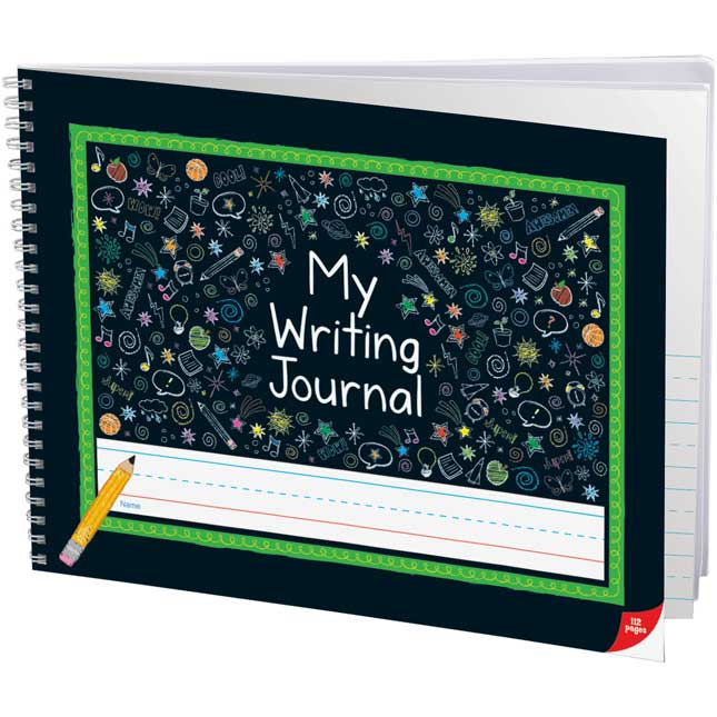 Deluxe Spiral Landscape Draw And Write Journals (Chalkboard-Style Cover)