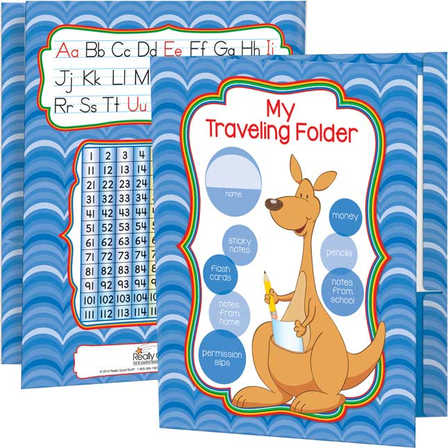 Kangaroo Traveling Folders With Zippered Pouches