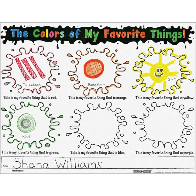 Ready-To-Decorate™ The Colors Of My Favorite Things Posters