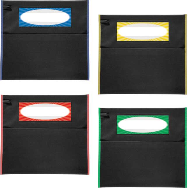 Store More® Grouping Chair Pockets - Black With Piping In 4 Colors - Set Of 48