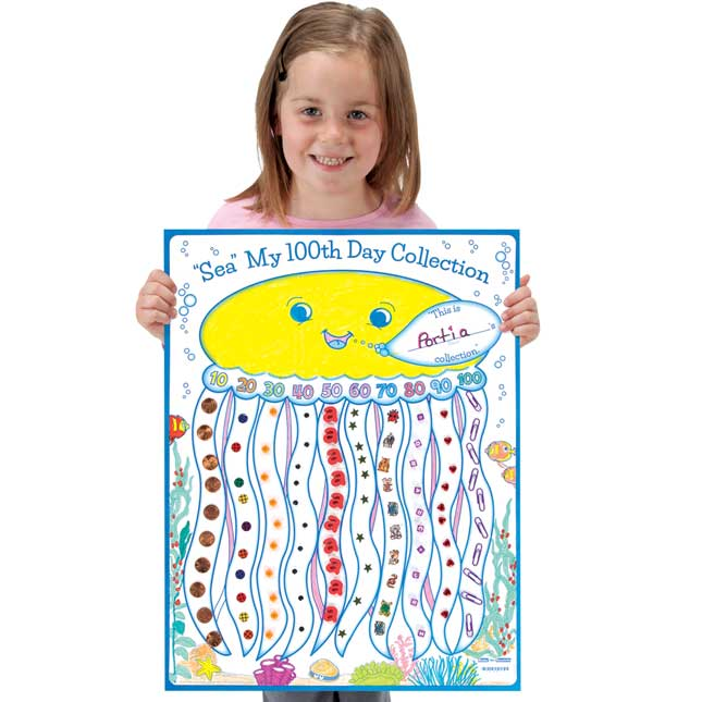 """Ready-To-Decorate® """"Sea"""" My 100th Day Collection Posters"""