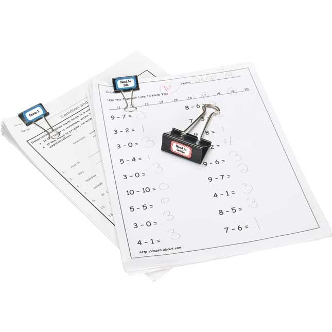Paper Management Binder-Clip Labeling Stickers