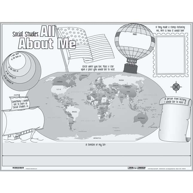 Ready-To-Decorate® Social Studies All About Me Posters