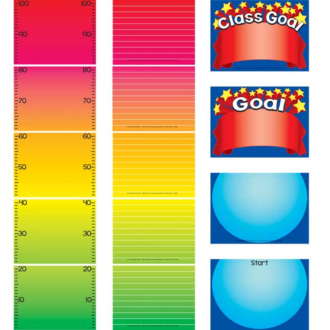 Goal Thermometer EZ-Tuck Clip 'N' Track Pocket Chart™