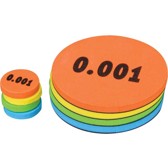 Decimal Place Value Foam Tokens Learning Kit