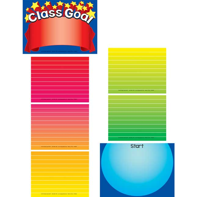 Goal Thermometer EZ-Tuck Clip 'N' Track Pocket Chart™ Cards Refill