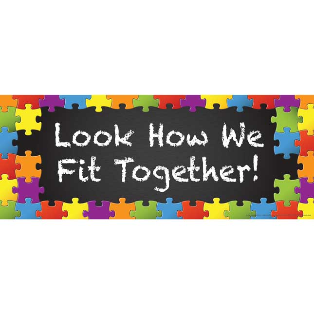 Look How We Fit Together! Bulletin Board Display