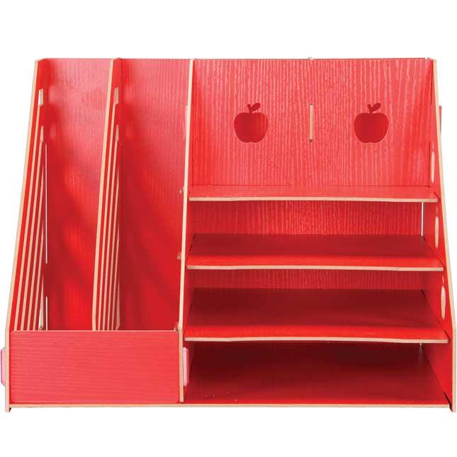 Teacher's Desk Accessories, Red - Apple Theme Kit