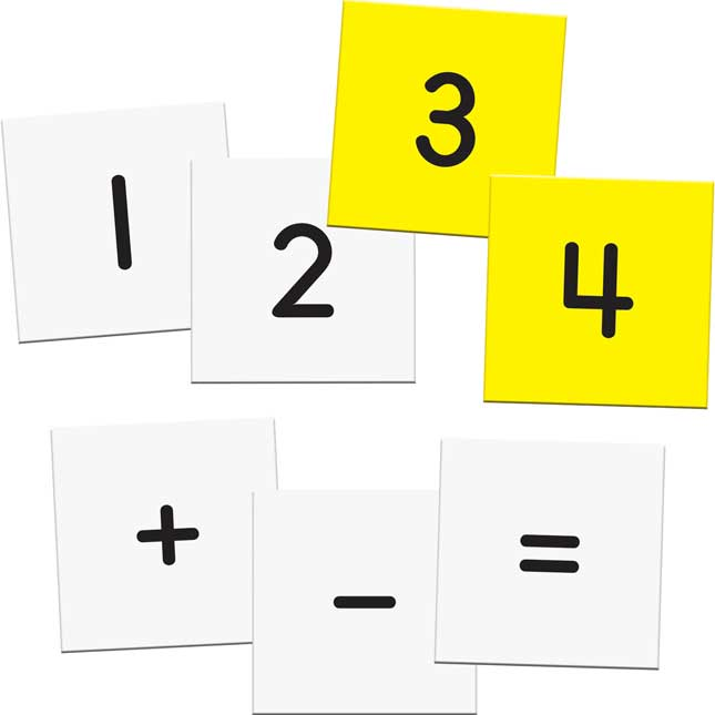 Addition And Subtraction Fact Families Pocket Chart™ - English/ Spanish